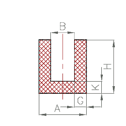 epdm nbr u profil nr 101. Black Bedroom Furniture Sets. Home Design Ideas