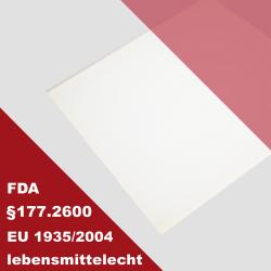 FDA Zulassung Silikon 60 transparent 300x 200x 4mm Silikon-Platte
